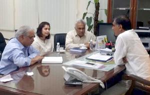 Harish Rao with Michagan University delegates