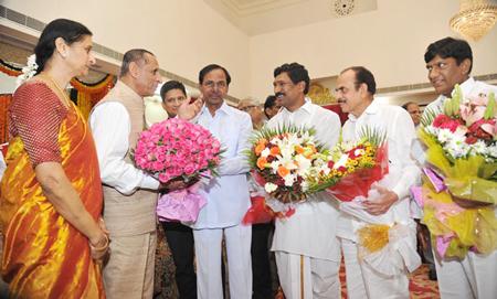 KCR met Governor