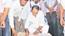 Indrakaran Reddy Launching of Memebership drive in Adilabad Distict