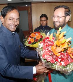 KCR met Minister for Environment Prakash Javdekar