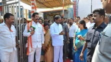 KCR visit to Yadagirigutta temple01