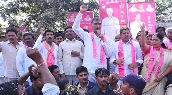Harish Rao addressing in Khammam elelction campaign