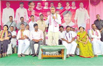 Harish Rao addressing in Mission kakatiya programme