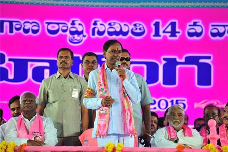 KCR addressing in Vijayagarjana