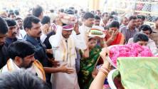 KCR attendeed Sitharamula Kalyanam in Bhadrachalam