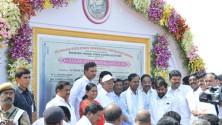 KCR laid Foundation Stone for Bhadradhri Power Plant04