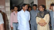 KCR visit to Fever Hospital (1)