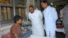 KCR visit to Fever Hospital (11)