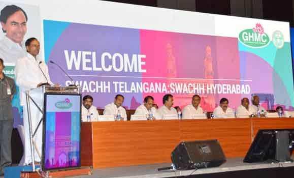 KCR addressing in Swacbharath programme