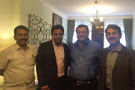 KTR met Tata Chairman Misthri