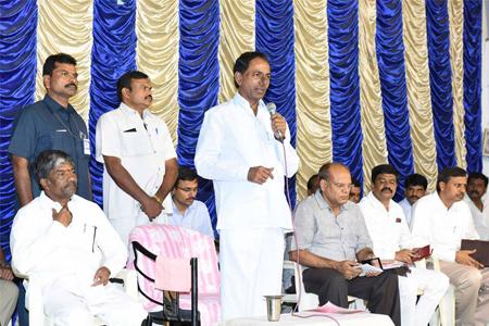CM KCR addressing in Swach Hyderabad Programme at Parsigutta