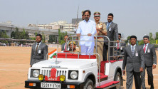 CM KCR in parade grounds on the occassion of Telangana formation day (10)