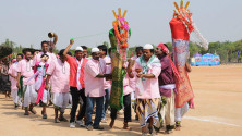 CM KCR in parade grounds on the occassion of Telangana formation day (11)