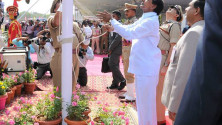 CM KCR in parade grounds on the occassion of Telangana formation day (19)