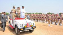 CM KCR in parade grounds on the occassion of Telangana formation day (20)