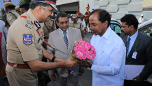 CM KCR in parade grounds on the occassion of Telangana formation day (22)