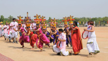 CM KCR in parade grounds on the occassion of Telangana formation day (28)