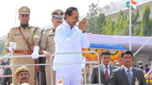 CM KCR in parade grounds on the occassion of Telangana formation day (29)