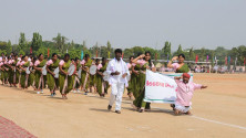 CM KCR in parade grounds on the occassion of Telangana formation day (4)
