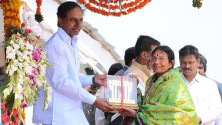CM KCR in parade grounds on the occassion of Telangana formation day (5)