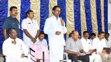 CM KCR in swach hyderabd programme in Parsigutta (3)