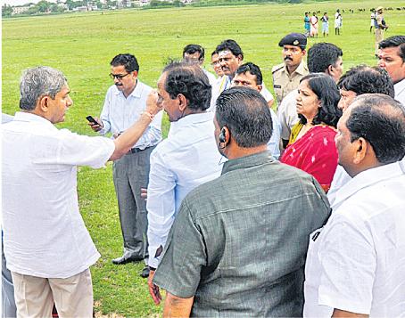 CM KCR visit to vemulawada