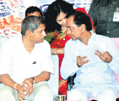 CM KCR with MLA Ramesh Babu