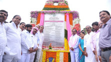 KCR laid foundation stone for Dindi lift irrigation project (1)