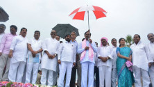 KCR laid foundation stone for Dindi lift irrigation project (2)