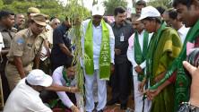 CM KCR in Harithaharam programme at peddapalli (8)