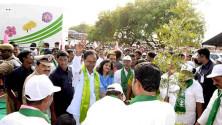 CM KCR in Harithaharam programme at peddapalli (9)