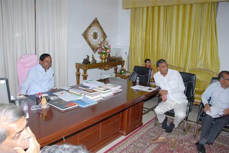 CM KCR review on Godavari basin projects