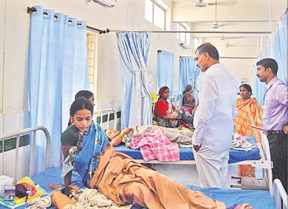 Harish Rao made a inspection in Siddipet govt hospital01