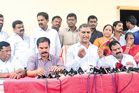 Harish Rao press meet in warangal