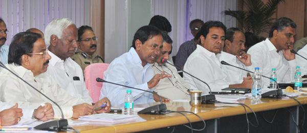 KCR review meet on Grama jyothi programme