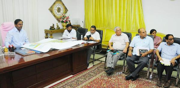 KCR review meet on Yadagirigutta temple development