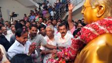 CM KCR pays floral tributes to Jayashankar sir