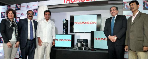 KCR inaugurating Thomson company in Taj krishna