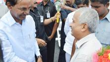 KCR launching of Grama Jyothi programme in Gangadevipalli village (1)
