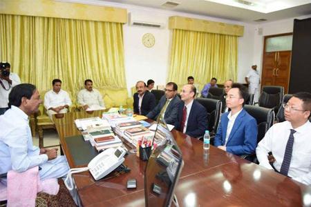 CM KCR meet with China Representatives