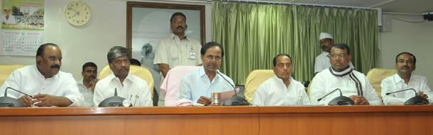 CM KCR press meet after cabinet meeting