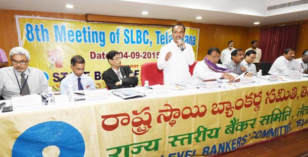 Etela Rajendar meeting with Bankers