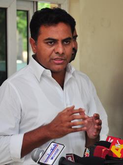 IT and Panchayat Raj Minister KT Rama Rao