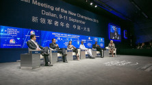 KCR in World Economic forum meeting at China (1)