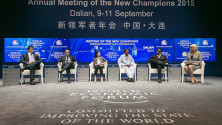 KCR in World Economic forum meeting at China (2)