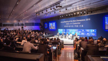 KCR in World Economic forum meeting at China (4)