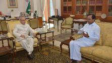 CM KCR met President Sri Pranab Mukherjee (1)