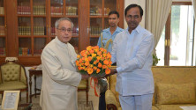 CM KCR met President Sri Pranab Mukherjee (2)