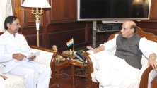 CM KCR met with Union Home Minister Rajnath Singh (1)