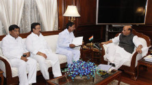 CM KCR met with Union Home Minister Rajnath Singh (2)